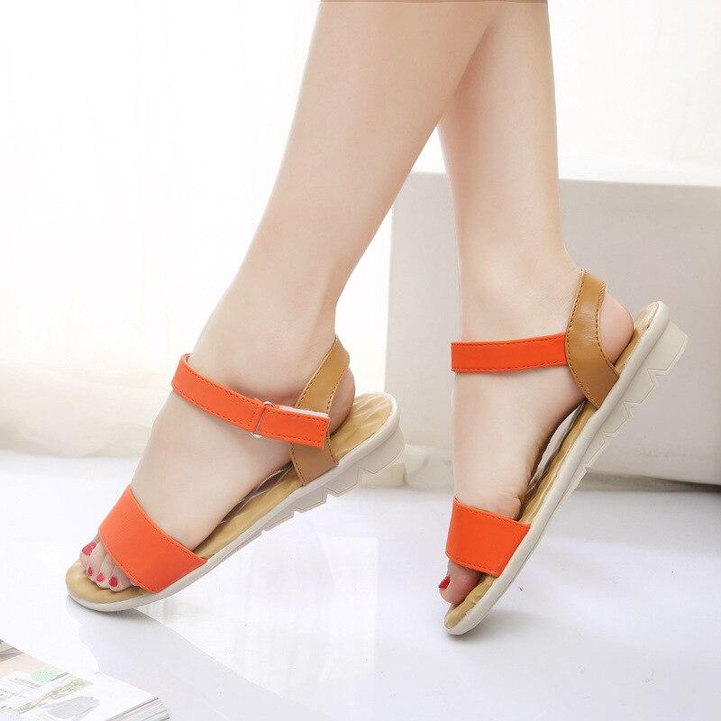 33e4a6aa72d13e Designer Women Flat Sandals 2017 Fashion Women Summer Shoes Wedge Sandals  Ladies Shoes Brand Sandalias Chaussure