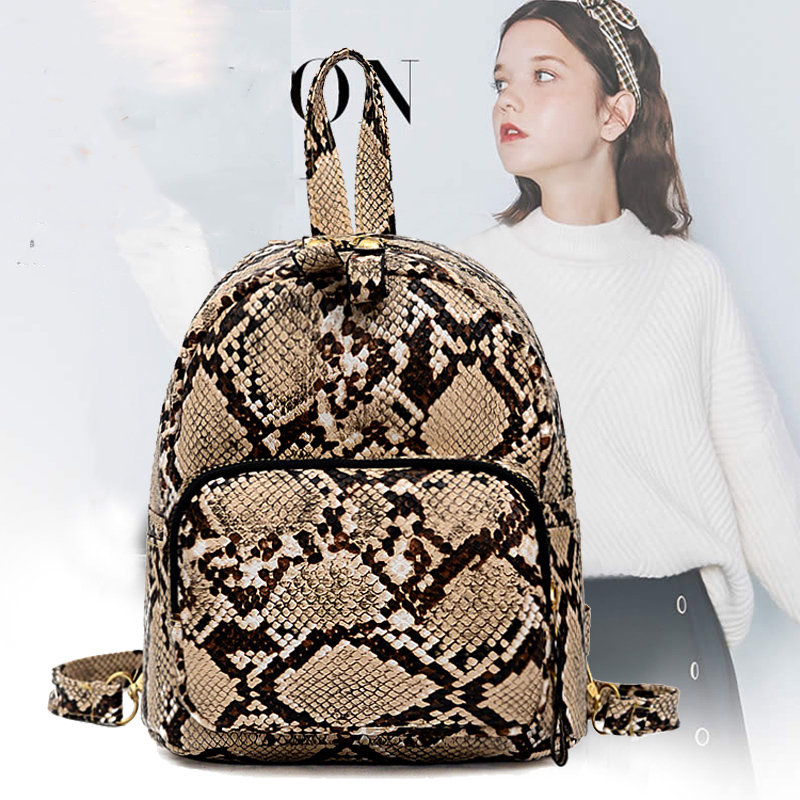 Fashion Female Backpack 2019 PU Leather Retro Female Backpack Teenage Girl High Quality Travel Books Backpack Shoulder Bag Qq443