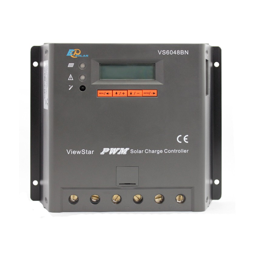 EPSOLAR VS6048BN 60A 12V 24V 36V 48V ViewStar EP PWM Solar Charge Controller with LCD display vs6048bn 60a 24 48v auto pwm controller network access computer control can connect with mt50 for communication