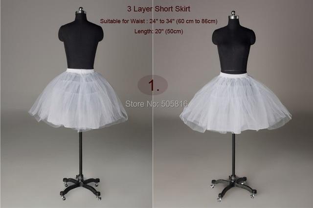 4c7d71cff3 Wholesale 3 layers white wedding bridal Short Petticoat Crinoline Slips /  UnderskirtSEM-009