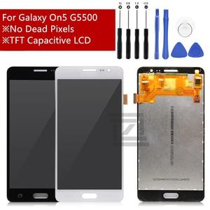 Image 1 - สำหรับ Samsung Galaxy On5 จอแสดงผล LCD Touch Screen Digitizer จอแสดงผล LCD สำหรับ Galaxy On 5 G5500 G550FY G550T ซ่อมอะไหล่