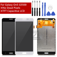 Voor Samsung Galaxy On5 LCD Display Touch Screen Digitizer LCD Display voor Galaxy Op 5 G5500 G550FY G550T Vergadering Reparatie onderdelen