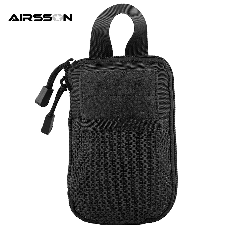 Tactical Hunting MOLLE EDC Pouch Bag Waterproof Wallet Bags Men For Phone Portable Outdoor Flashlight Passport Magazine Pouches airsoftpeak military tactical waist hunting bags 1000d outdoor multifunctional edc molle bag durable belt pouch magazine pocket