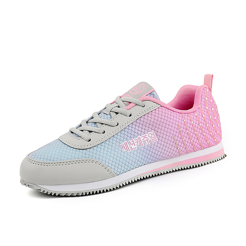 POLALI 2018 the new autumn flying woven breathable shock absorber woman  shoes d7d78088e2c