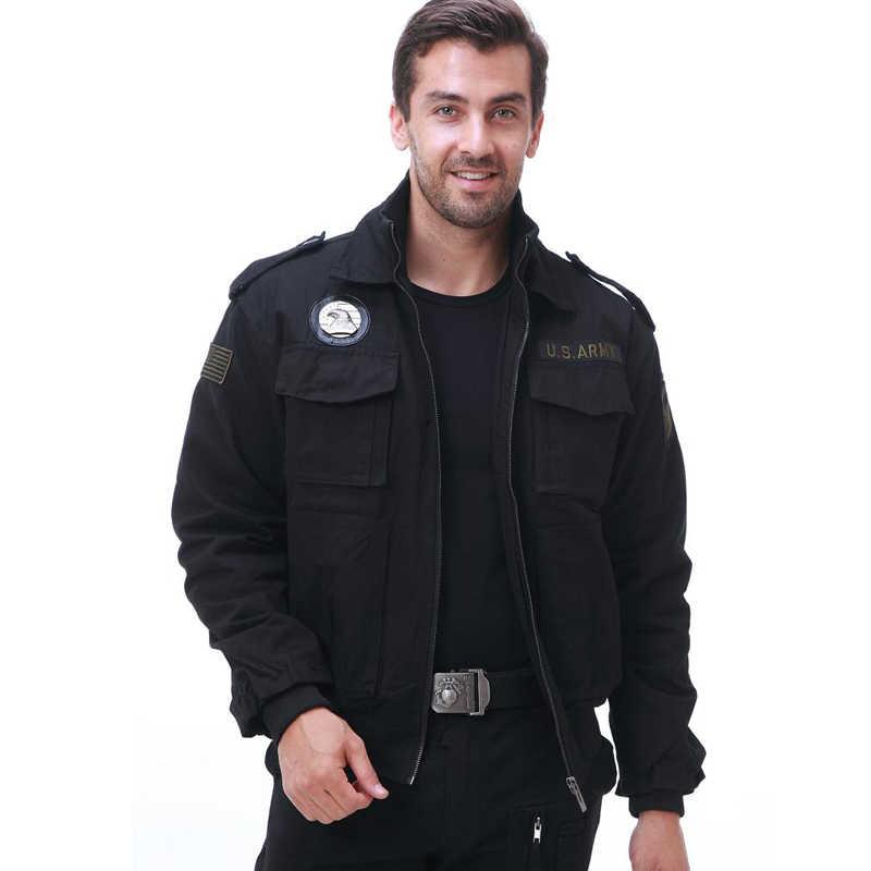 ブランドメンズ 101 フライトジャケット軍服秋冬マルチポケット厚い男性カジュアルジャケットコート男性パーカー 3XL CF1620
