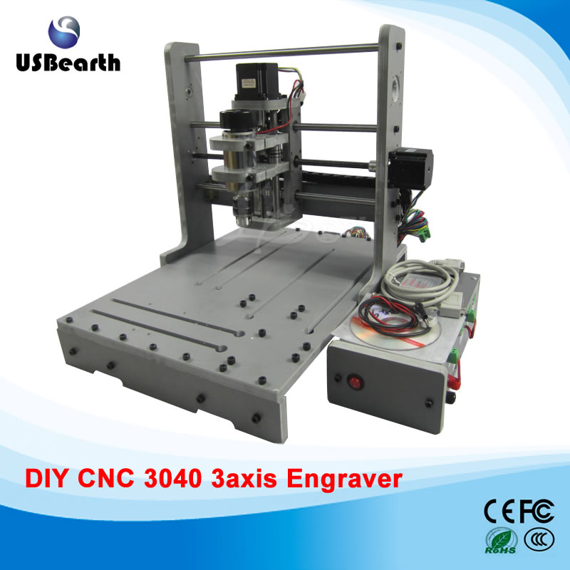 Mini CNC Router 3040 Woodworking Drilling Milling Machine Mach3 CNC Machine, free tax to Russia  цены