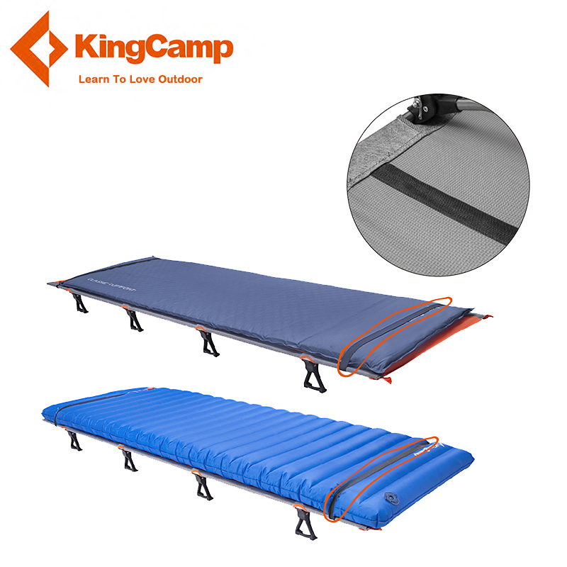 KingCamp Ultralight Single Folding Bed Weight Capacity 120KG Camping Cot Aviation Aluminum Portable Hiking Travel Comfortable