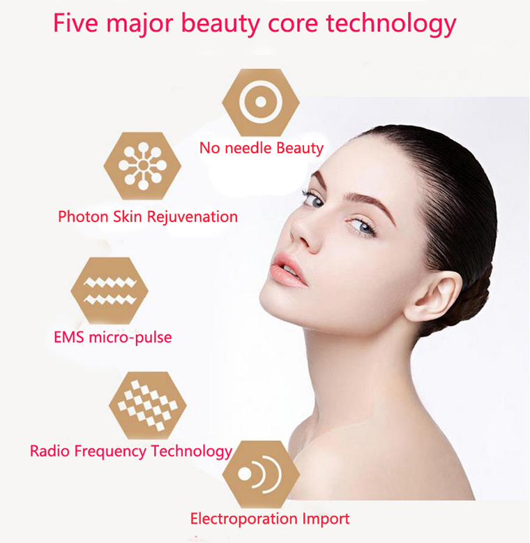 New EMS RF Radio Frequency Face Beauty Skin Lifting Facial LED Photon