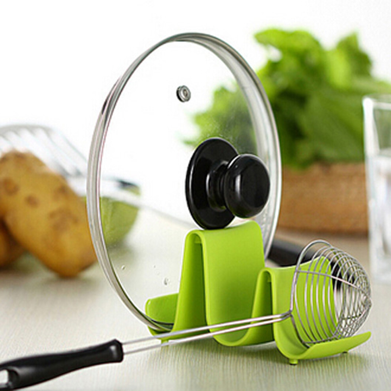 Colorful Spoon Rack Rest Pot Pan Lid Rack Stand Holder Kitchen Cooking Utensil Tool Storage Holder Rack 1
