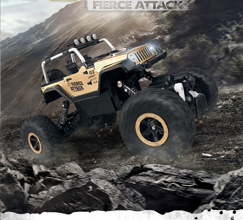Ewellsold 1:18 2.4G 4channels 4WD Alloy Rock Crawlers 4x4 Driving Car Remote Control Model Off-Road Vehicle Toys