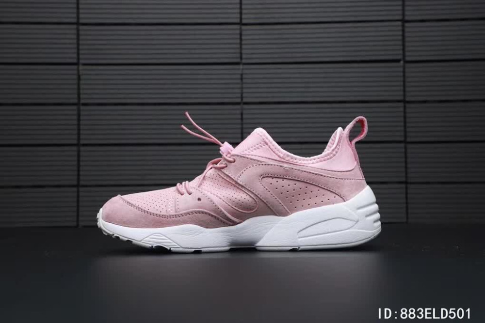 2ffe3f9a3749a0 2018 Original Puma Phenom Satin EP Women s Pink Sneakers Suede Satin  Badminton Shoes Size 36-