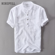 HIRIFULL Mens Shirts Fashion 2019 Summer Short Sleeve Slim L