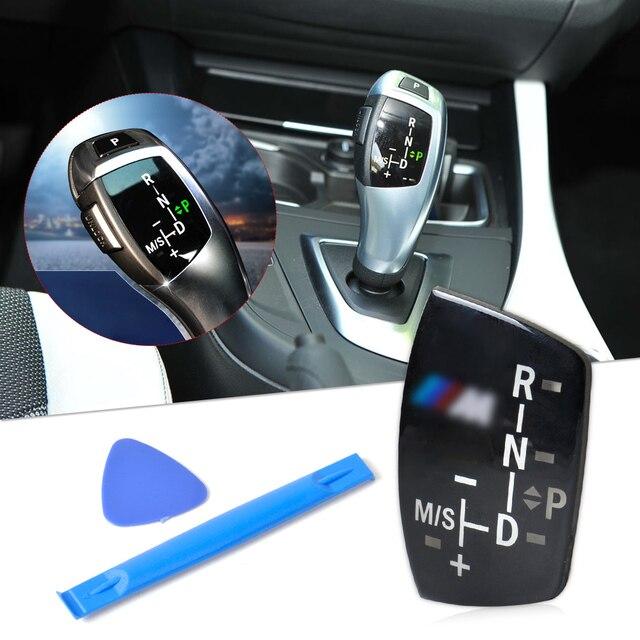 Gear Sticker Shift Knob Panel Acrylic Plate for BMW ///M X1 X3 X5 X6 M3 M5 F01 F10 F30 F35 F18 GT 1 3 5 6 7