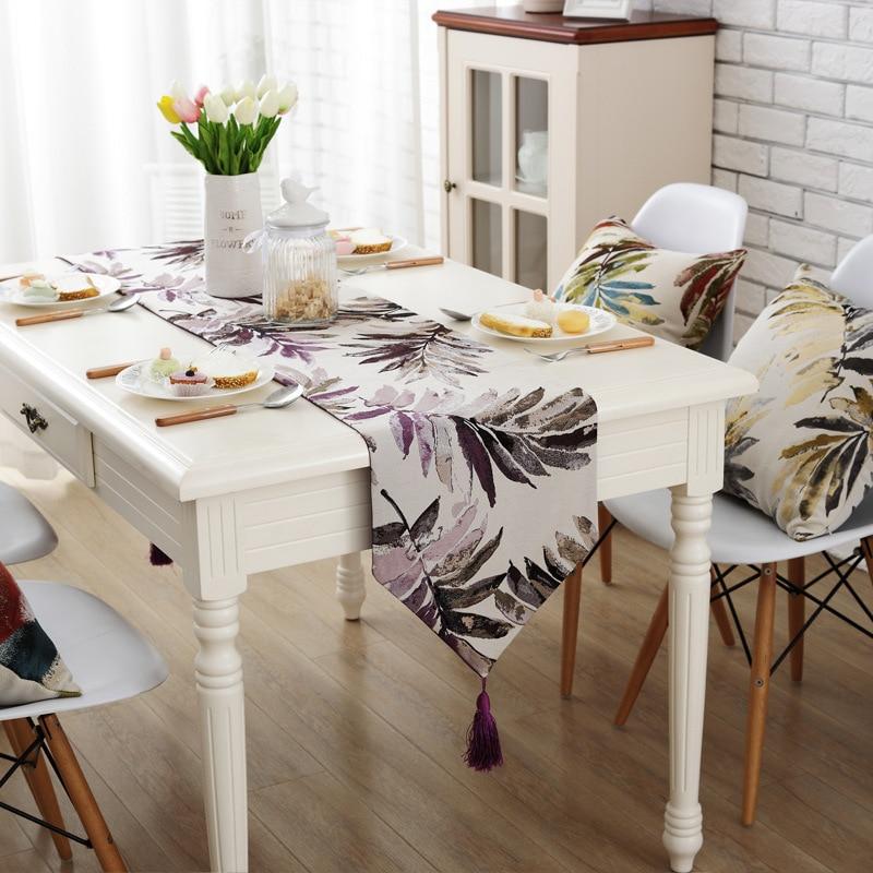 Junwell Fashion Moderne Tischläufer Bunte Nylon Jacquard Läufer - Haustextilien - Foto 6