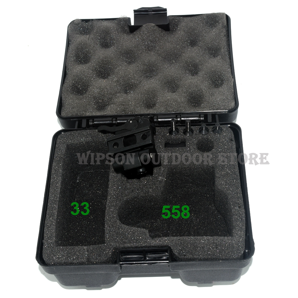 WIPSON Outdoor Hunting 558+33 Holographic Red Green Dot Sight Rifle Scope For 20mm Weaver Rail Mounts Black Color very100 tactical airsoft 1x32 illumination red green dot sight rifle scope for outdoor hunting with 20mm weaver rail