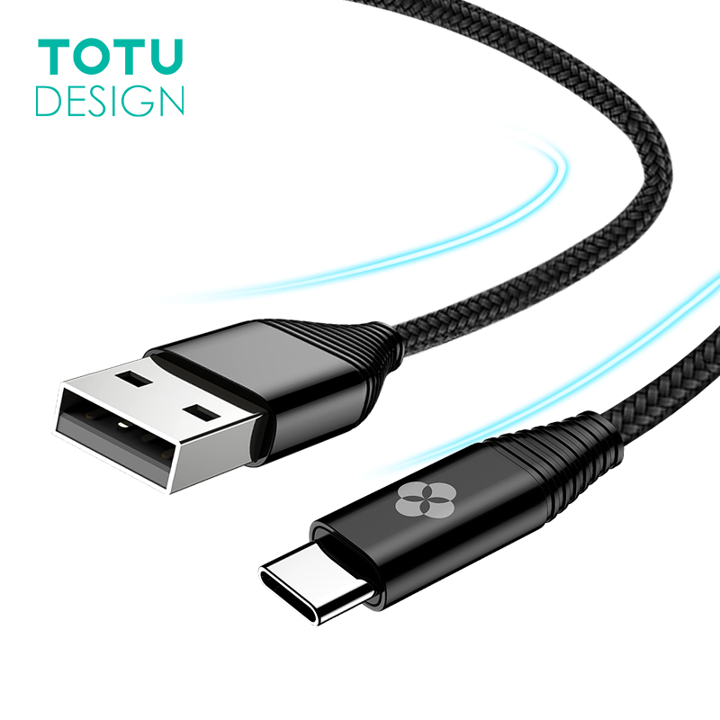TOTU Type C Cable For Samsung Note 8 S8 Plus USB Type C Charger Cable For Huawei Xiaomi Mi5 Mi6 Type-C Mobile Phone USB-C Cable