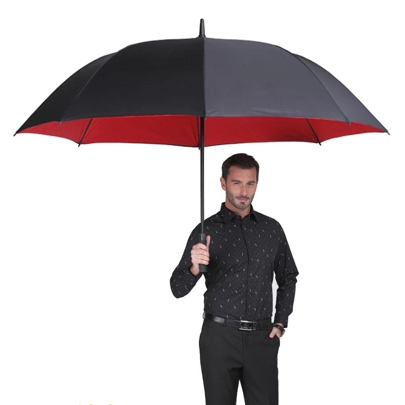 Brand Big Large Creative 2 Layer Long Handle Rainy Sunny Umbrella Men Windproof High Quality Car