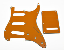 Trem Cover,KAISH Orange ST Style SSS Guitar PickguardScrews Fits For Strat