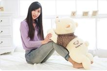 new cute lying bear toy plush squinting in brown cloth bear doll gift about 70cm