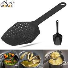 Wowcc coador de nylon não-tóxico, 1 peça escorredor de colher de nylon durável, acessórios de cozinha ferramentas de cozinha