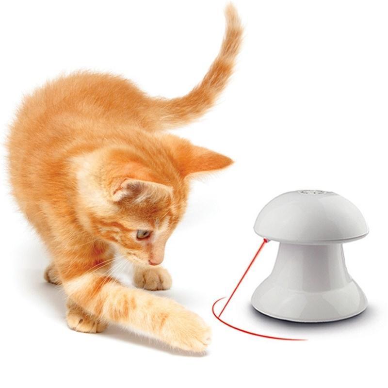 LanLan 360 градусов Автоматическое вращение Cat игрушки развлечения стимуляции упражнения охота Электрический игрушка