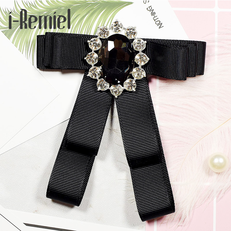 i-Remiel 2018 Bowknot Ribbon Bowtie Real Special Offer Brooches For Broche Pin Manual Bow Tie Brooch Neutral Corsage For Women