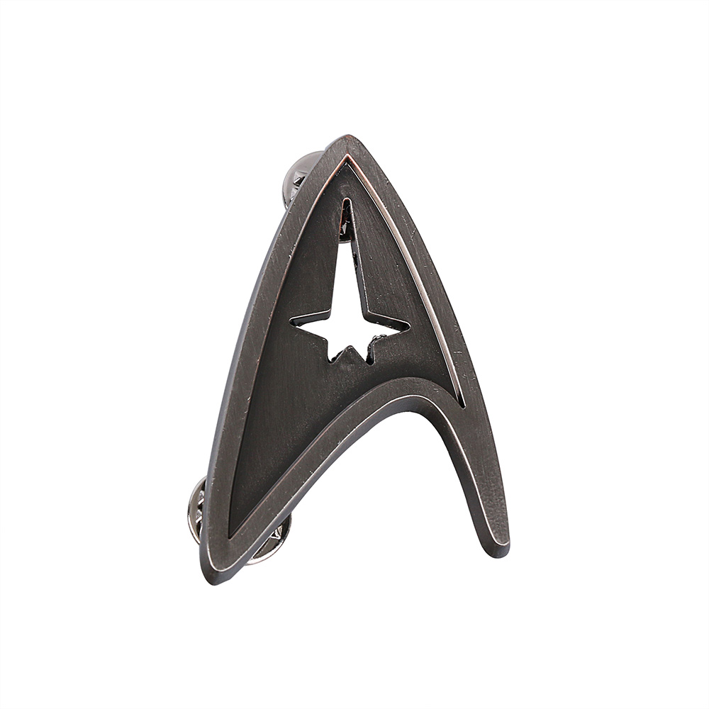 Cos Star Trek Badge Pin Starfleet Command Insignia Badge Brooches Metal Alloy Zinc Pin Prop Halloween Party