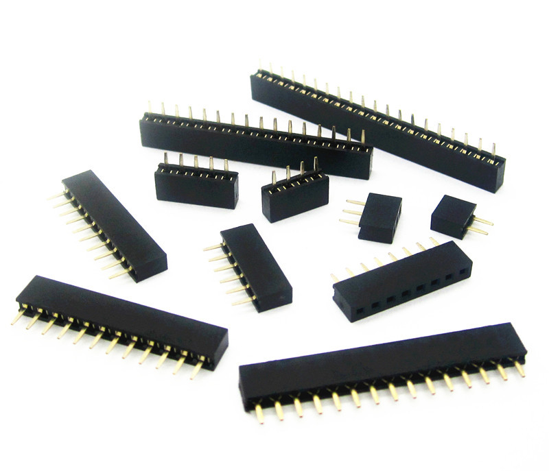 Pitch 2.0mm 2/3/4/5/6/7/8/9/10/11/12/13/14/15/16/20/40 Pin Stright Female Single Row Pin Header Strip PCB Connector