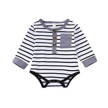 Newborn's Striped Body Pajamas