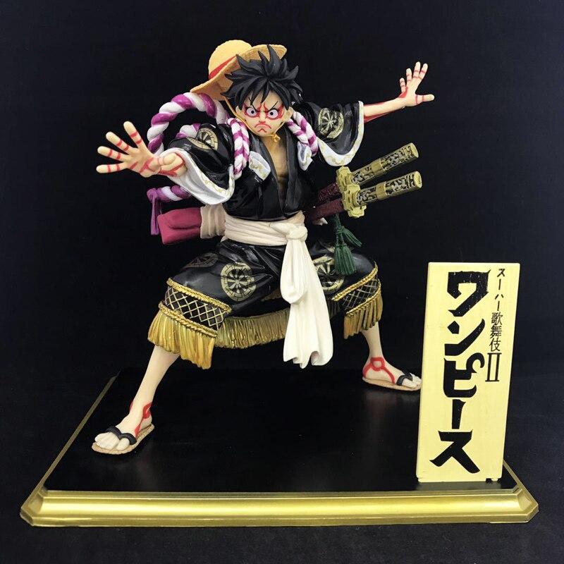 Free Shipping 7.2 One Piece Anime P.O.P Kabuki Edition Luffy Boxed 18.5cm PVC Action Figure Collection Model Doll Toys Gift saintgi one piece monkey d luffy pvc action figure toy luffy model collections toy gift doll 18cm anime toys free shipping