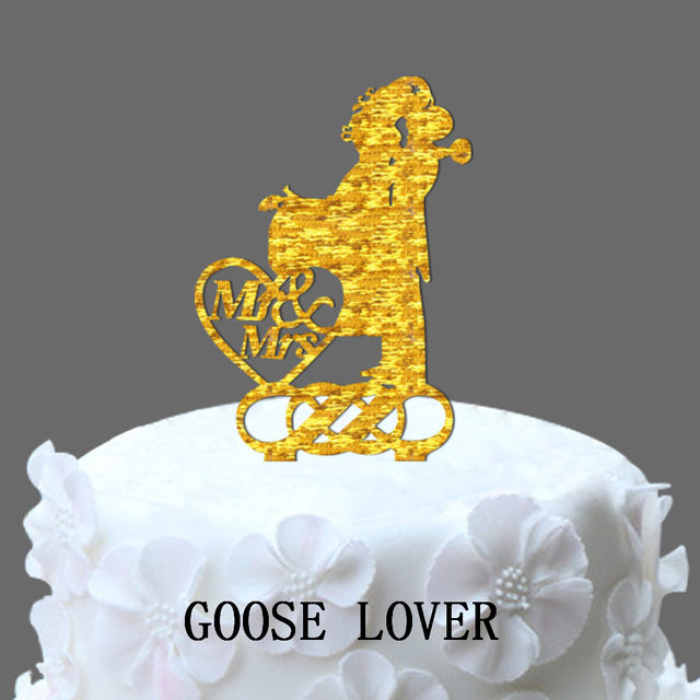 Online Shop Mr And Mrs Wedding Cake Topper, Couple Kissing ...