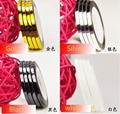 2mm/3mm Colores Mezclados Radio Auto-adhesivo Del Clavo 3D Pegatinas de Línea Rollo Trazado de Líneas de Cinta de Uñas arte Engomada de La Decoración, HAZ4710HZEF