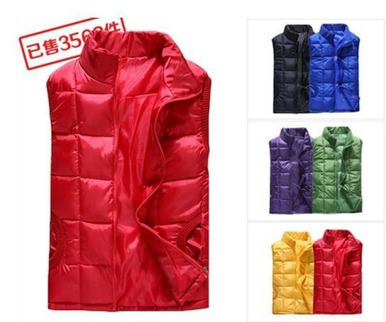 Hot! inverno quente das mulheres para baixo algodão colete feminino outono  moda primavera colete feminino colete de lazer verde amarelo rosa vermelho  preto 294aa97324cc5