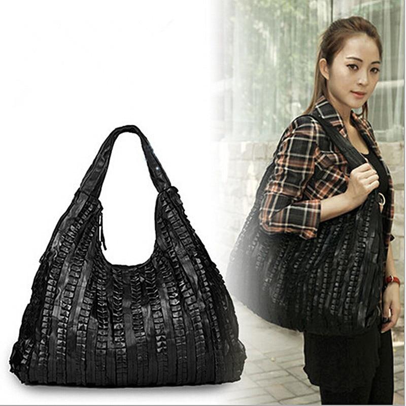 New Fashion Genuine Leather Women Shoulder Bag Natural Sheepskin Crossbody Bag Ladies Black Casual Handbag sac Bolsa Femininas цены онлайн