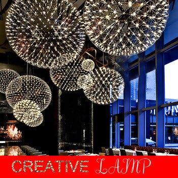Bar Light Modern Firework Pendant Lights bar LED  Stainless Steel  ball pendant Lamp For Bar/Restaurant Lamparas Lustre Pendant Lights