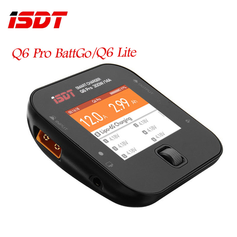 ISDT Q6 Pro BattGo / Lite 300W 14A Pocket Smart Digital Lipo Charger Battery Balance Charger For RC Models DIY Multicopter Part(China)
