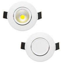 Диммируемый светодиодный светильник COB Потолочный Точечный светильник 3 Вт 5 Вт 7 Вт 12 Вт 85-265 в светодиодный светильник потолочный встраиваемый светильник s Внутреннее освещение