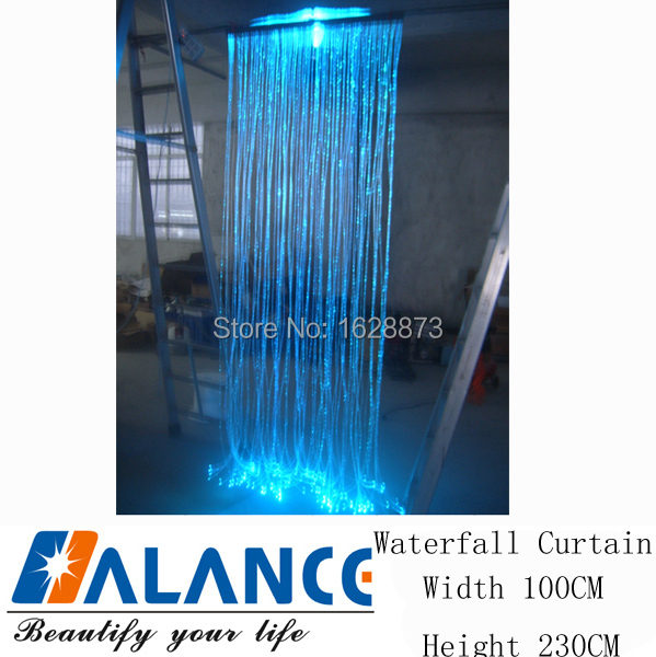 Perfect Decorative LED RGB Waterfall Curtains Lights For Window With 16W Optic Fiber Light