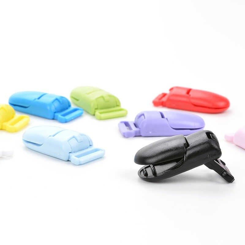 50 sztuk/partia dziecko plastikowe 15mm klips smoczka tworzenia biżuterii Pacify smoczek uchwyt na akcesoria do karmienia dziecka narzędzia wiele kolorów