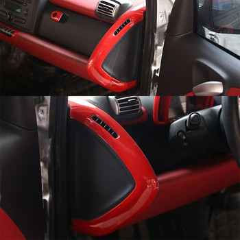 2pcs Car Dashboard Mouldings Trim Center Console Side Cover Sticker for Smart fortwo 2009 2010 2011 2012 2013 2014 Styling
