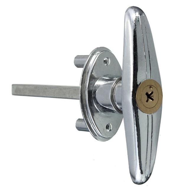Garage Door Lock T Handle With Key Screw Metal Copper In Locks From