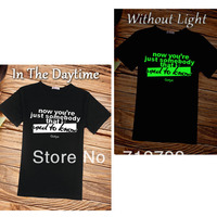 luminous shirt gotye Somebody that I used to know 2 styles for men&women experimental rock free shipping