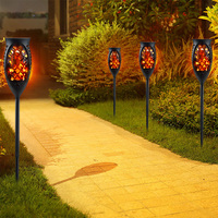 ZINUO Solar LED Flame Lamps Flicker Effect Torch Lights Waterproof IP65 LED Fire Light Bulbs 99pcs LED LED Fire Lights Garden