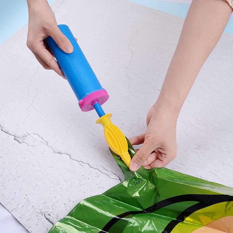 1 Uds. Bomba de globo portátil útil para globos juguetes inflables y bomba de mano de globo de aire de papel aluminio