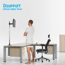 Super high Desktop Sit Stand 17 27 inch Monitor Holder Stainless Steel TV Mount Stand Column Height 90cm Loading 10kgs