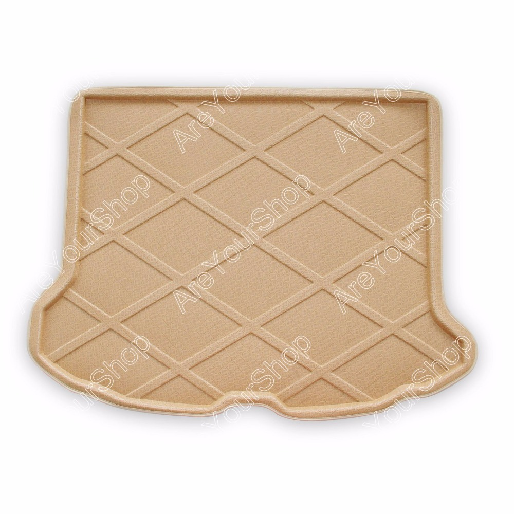 Car Auto Cargo Mat Boot liner Tray Rear Trunk Sticker Dog Pet Covers For Volvo XC60 2010 2011 2012-2015 Tan Car-Styling Covers car rear trunk security shield shade cargo cover for nissan qashqai 2008 2009 2010 2011 2012 2013 black beige