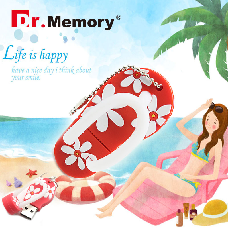 USB Flash Drive 64gb real capacity 32GB pendrive flip flops shoes 16GB girl sandals personality gift 8GB pen drive flower 4GB
