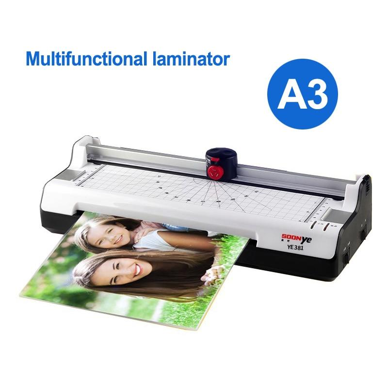 A3 laminating machine laminator sealed plastic machine hot and cold laminator width 330mm YE381 Smart photo laminator