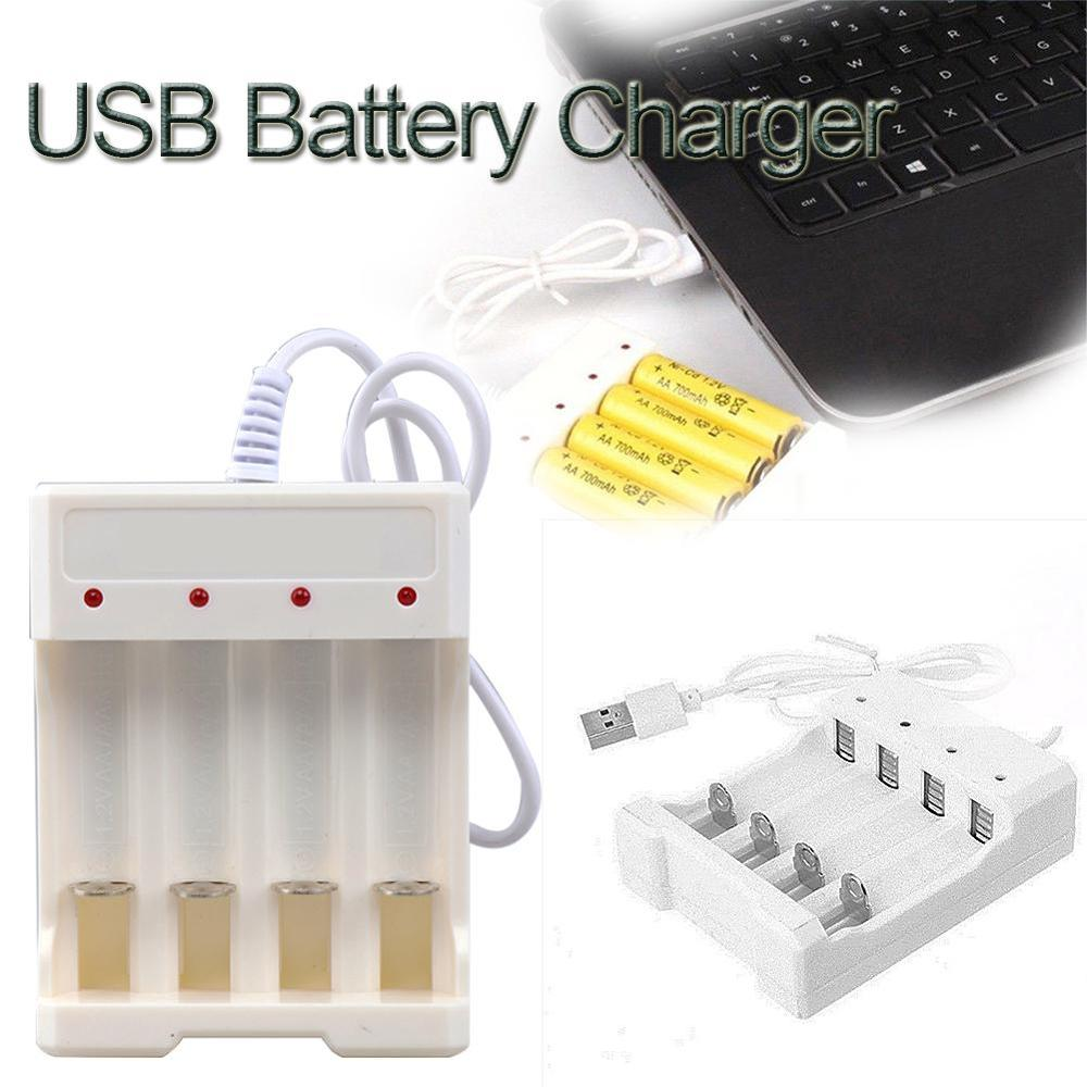 Universal Rechargeable Battery Quick Charge Adapter USB 4 Slots Output Battery Charger Battery Charging Tool For AA/AAA