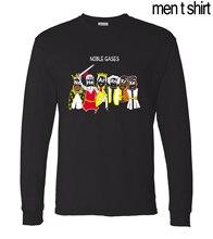 Adult Chemistry Science Noble Gas funny men t shirt 2016 new autumn 100% cotton men's long sleeve T-shirts Camisetas Hombre